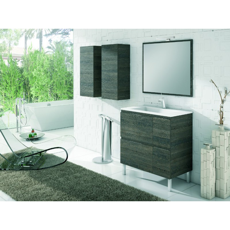 Meuble salle de bain sur pieds sigma 4 tiroirs robinet and co meuble sur pieds - Meuble de salle de bain sur pied ...