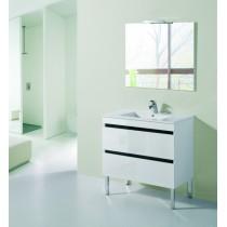 Meuble de salle de bain sur pieds MU 2 tiroirs