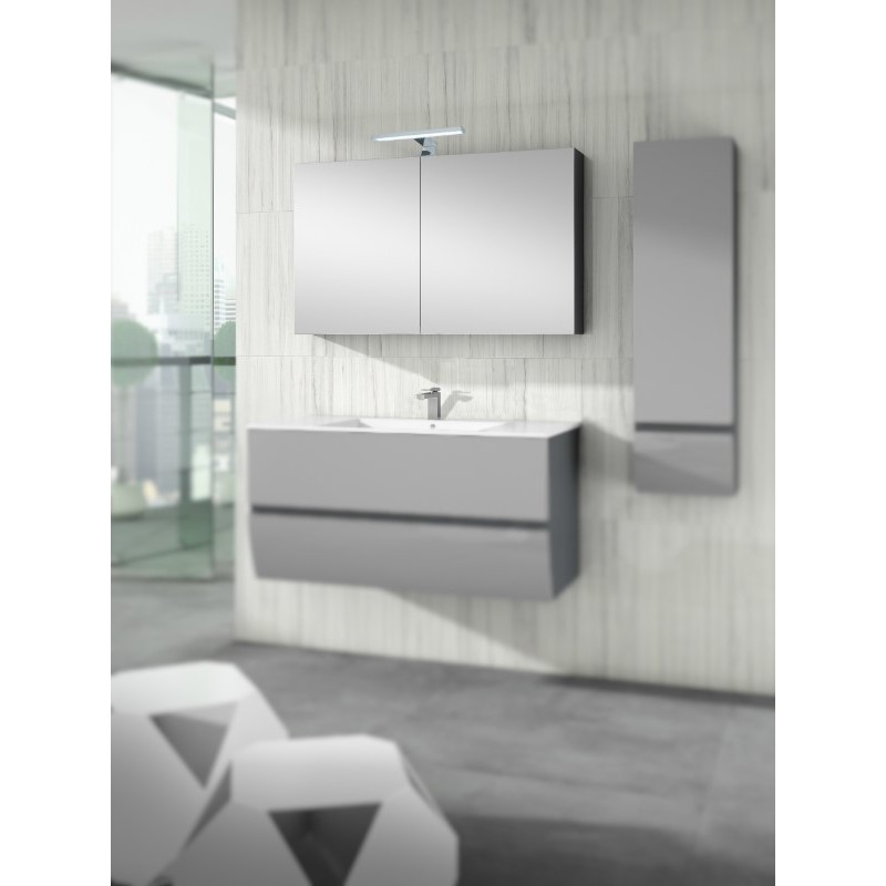 armoire de toilette miroir berty 2 ou 3 portes robinet. Black Bedroom Furniture Sets. Home Design Ideas