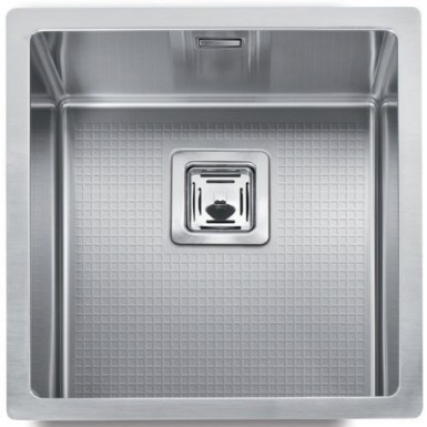 Cuve evier inox sous plan mg 40 x 40 cm robinet and co evier - Evier inox encastrable sous plan ...