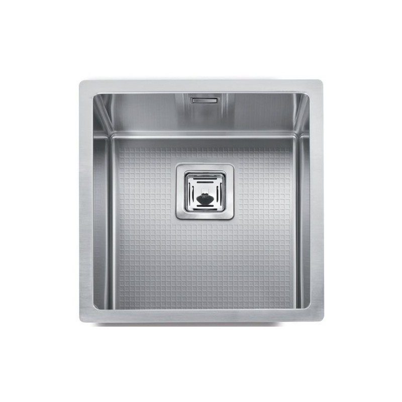 Cuve evier inox sous plan mg 40 x 40 cm robinet and co evier for Meuble 40x40