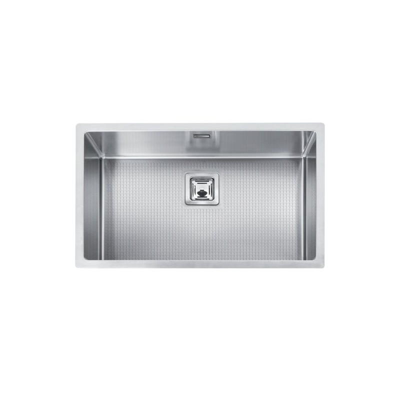 Cuve evier inox sous plan mg 74 x 40 cm robinet and co evier for Evier cuve inox