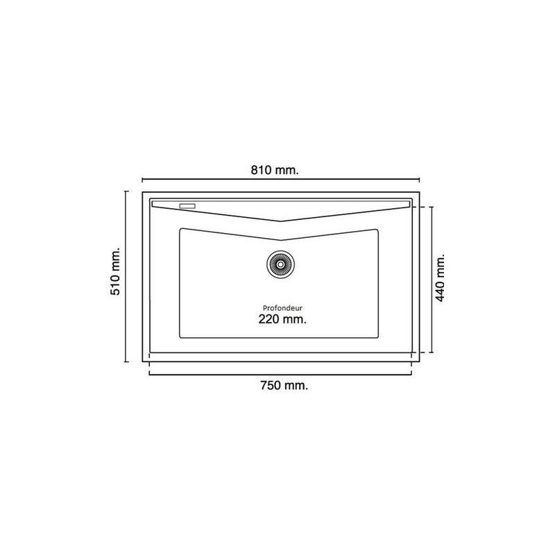 evier encastrer meuble 90 cm 1 bac gris soie ral 7044 robinet and co evier. Black Bedroom Furniture Sets. Home Design Ideas