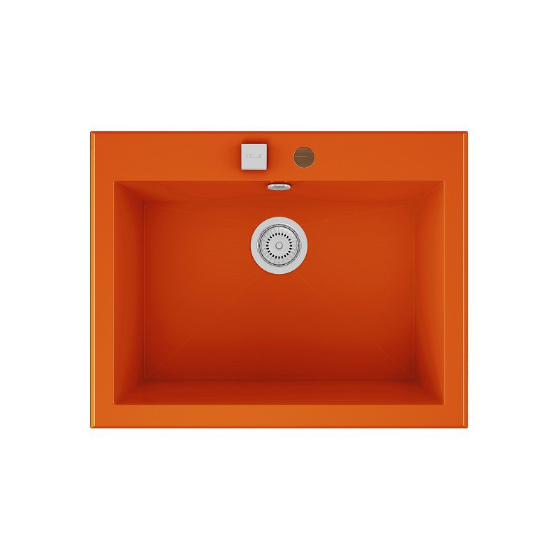 Evier encastrer meuble 70 cm 1 bac orange fusion for Evier 1 bac dimension