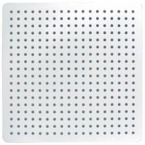 Pomme de douche haute carré 400 x 400 laiton ultra fine