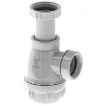 Siphon lavabo Valentin fond plat avec joints intégrés