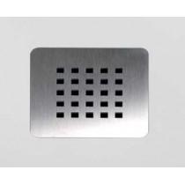 Option grille inox carrée pour receveur Hidrobox