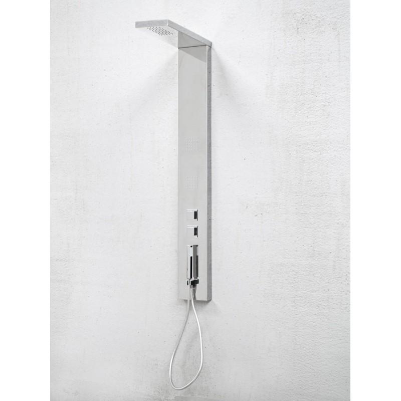 combin de douche inox kira silver robinet and co. Black Bedroom Furniture Sets. Home Design Ideas