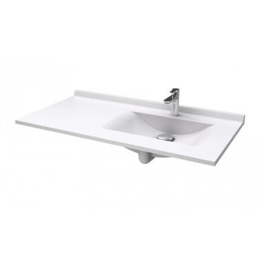 Plan RESIPLAN avec vasque déportée droite en marbre de synthèse