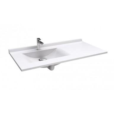 Plan RESIPLAN avec vasque déportée gauche en marbre de synthèse
