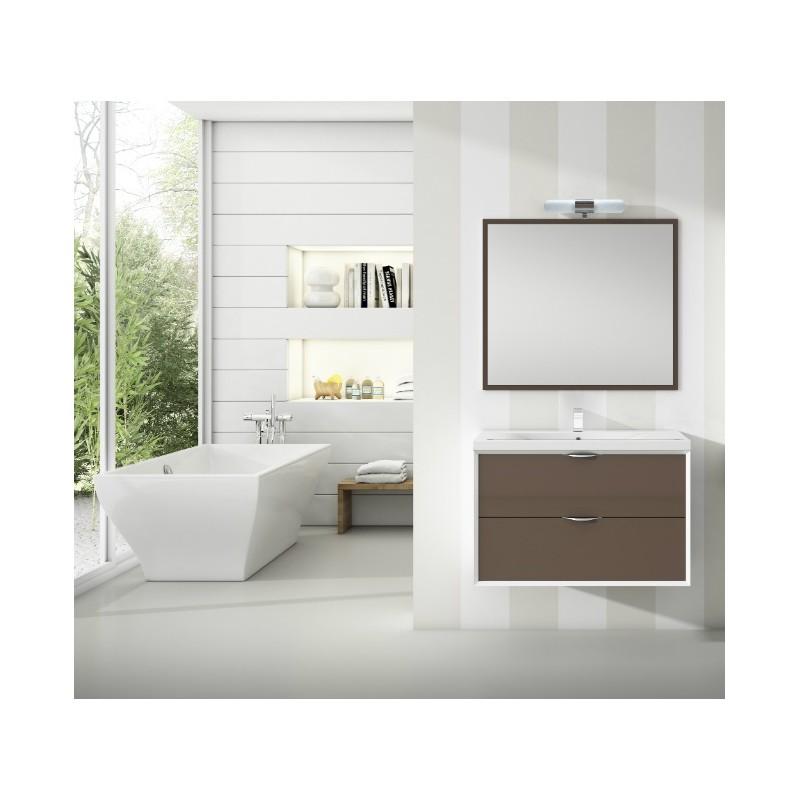 meuble sous vasque suspendu iota 2 tiroirs robinet and co. Black Bedroom Furniture Sets. Home Design Ideas