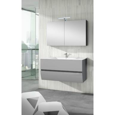 meuble sous vasque suspendu charleston 2 tiroirs laqu bicolore robinet and co meuble suspendu. Black Bedroom Furniture Sets. Home Design Ideas