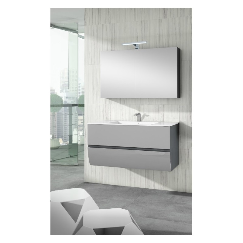 meuble sous vasque suspendu charleston 2 tiroirs laqu bicolore robinet and co meuble suspendu. Black Bedroom Furniture Sets. Home Design Ideas