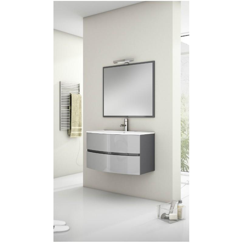meuble sous vasque omicron suspendre 2 tiroirs laqu. Black Bedroom Furniture Sets. Home Design Ideas