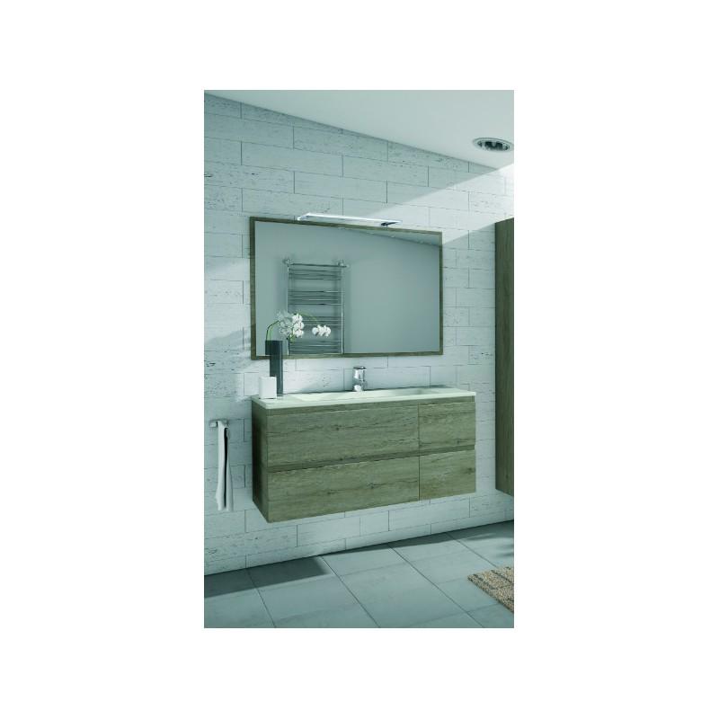 Meuble de salle de bain suspendu borneo 4 tiroirs robinet - Meuble tiroir salle de bain ...