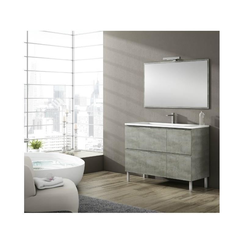 Meuble salle de bain sur pieds sigma 4 tiroirs robinet for Meuble salle de bain a tiroir