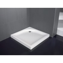 Receveur acrylique carré 90 x 90 cm pose semi-encastrée VISUAL Hidrobox