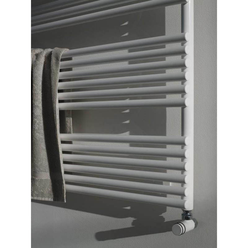 Radiateur s che serviette horizontal ritmato robinet and for Radiateur seche serviette retro