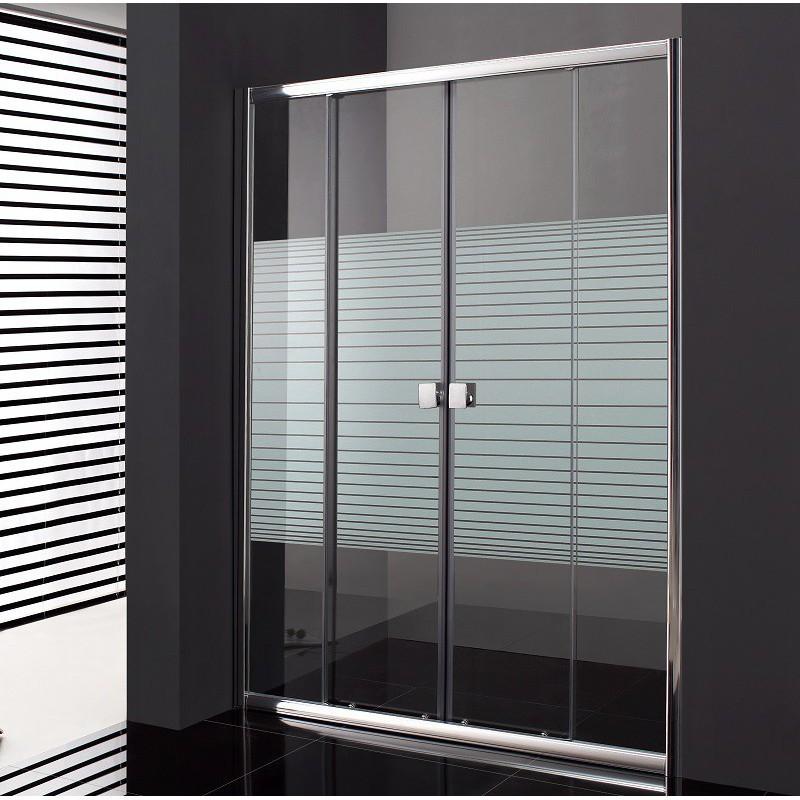 paroi de douche double coulissante cronos spazio s rigraphi e 160 cm robinet and co. Black Bedroom Furniture Sets. Home Design Ideas