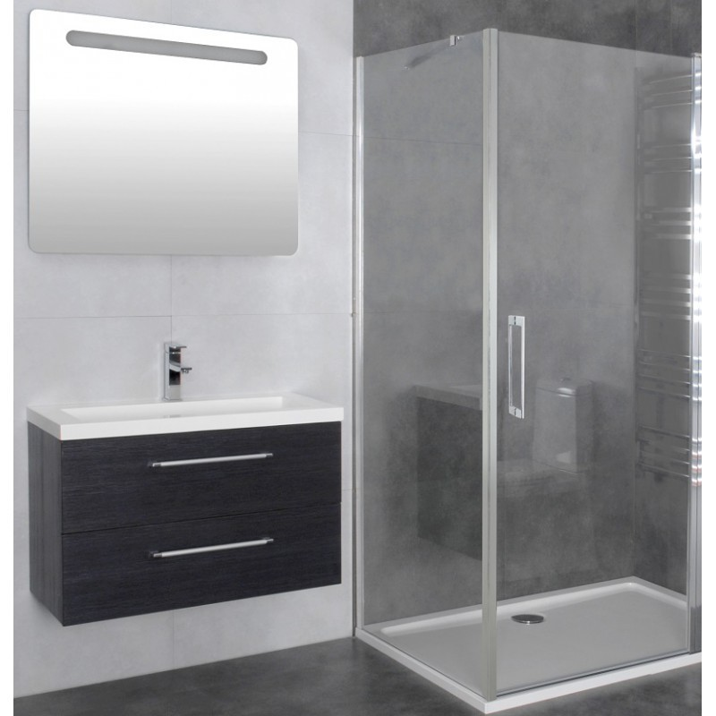 paroi de douche d 39 angle porte battante helia b 70 x 60 cm robinet and co. Black Bedroom Furniture Sets. Home Design Ideas