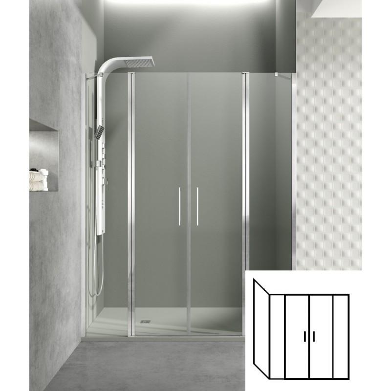 paroi de douche d 39 angle portes battantes helia g 80 x 235 cm robinet co