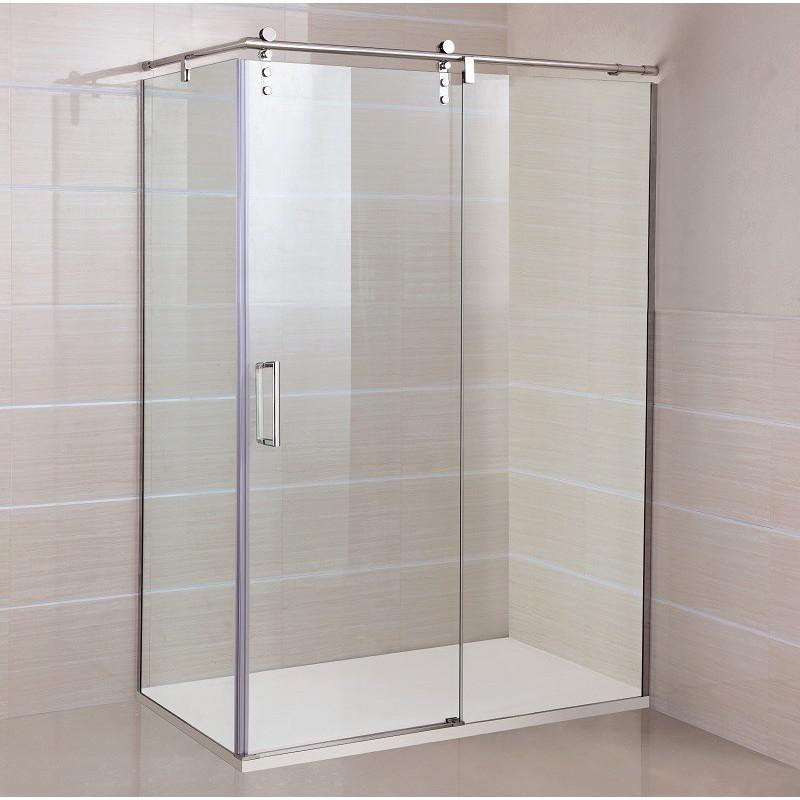 Paroi de douche d 39 angle roll acc s sur cot 70 x 100 cm robinet and co - Paroi de douche 100 cm ...