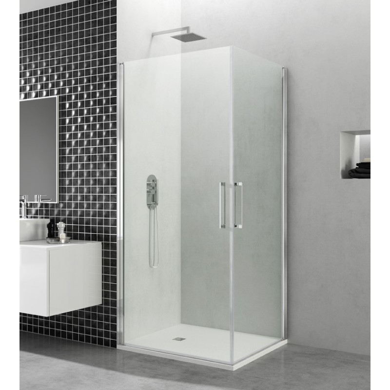 paroi de douche d 39 angle portes battantes helia k 60 x 60. Black Bedroom Furniture Sets. Home Design Ideas