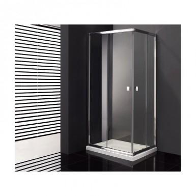 Paroi de douche d 39 angle cronos acc s sur angle 90 x 100 cm robinet co - Paroi de douche 100 ...