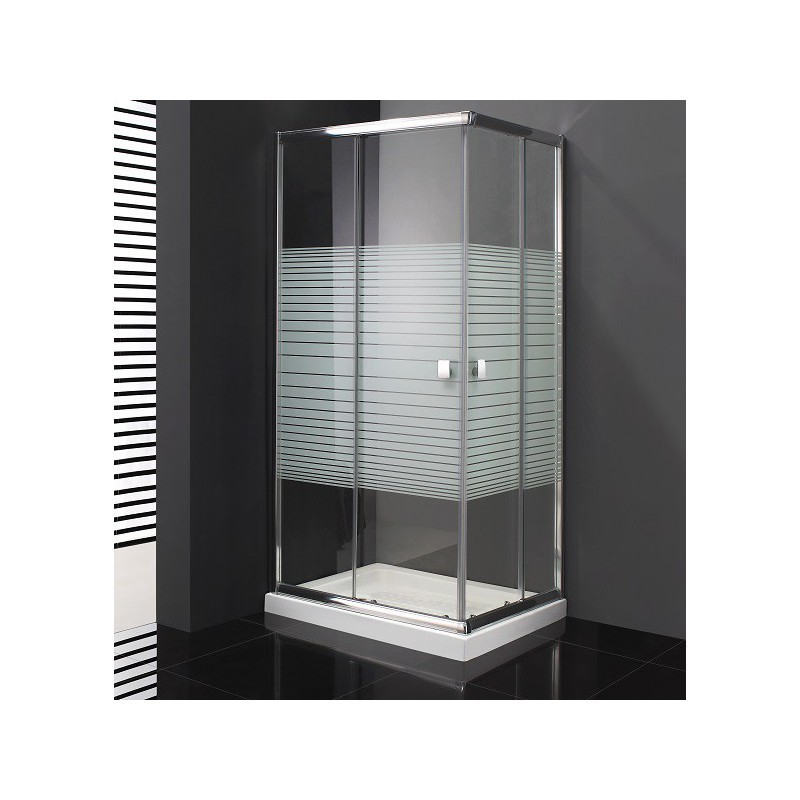 paroi de douche d 39 angle cronos s rigraphi e acc s sur angle 70 x 100 cm robinet and co. Black Bedroom Furniture Sets. Home Design Ideas