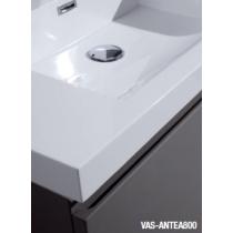 Plan vasque en marbre de synthèse blanc