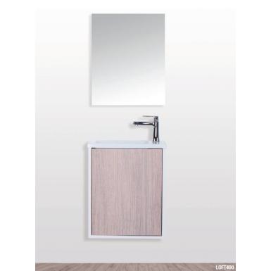 Pack meuble + vasque + miroir LOFT 400