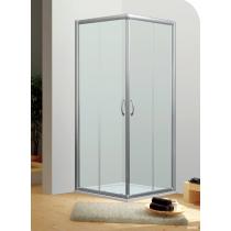 Paroi de douche accès d'angle 2 portes coulissantes ESPACE
