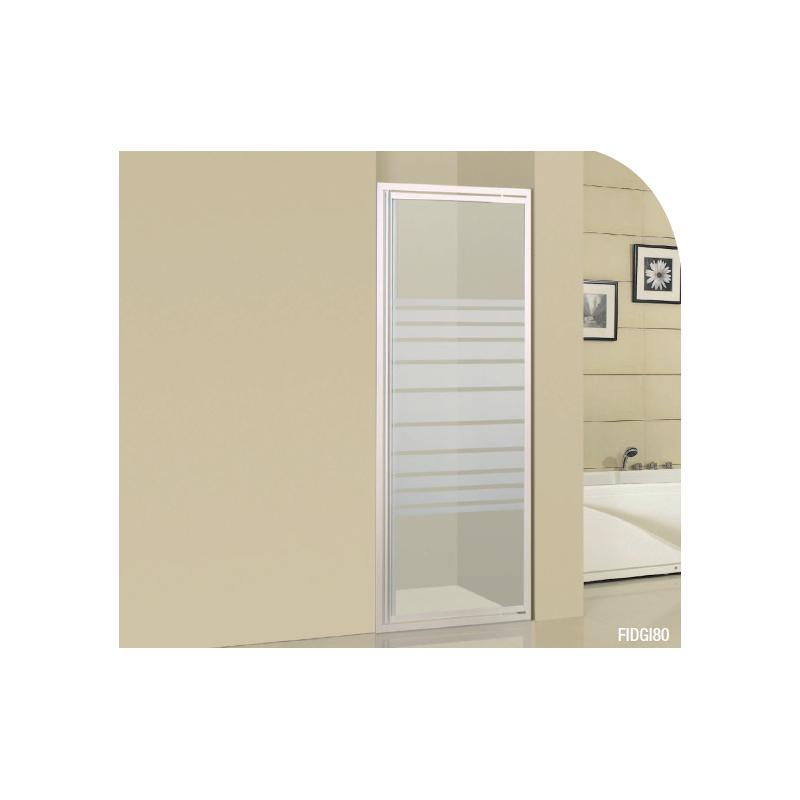 Paroi de douche frontale porte pivotante fidgi robinet for Paroi de douche porte