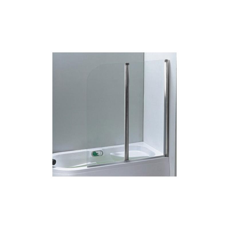 Pare baignoires 2 volets largeur 120 cm robinet and co paroi de bain - Baignoire 60 cm de large ...
