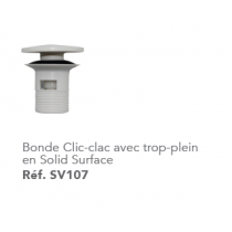 Bonde clic-clac en solide surface