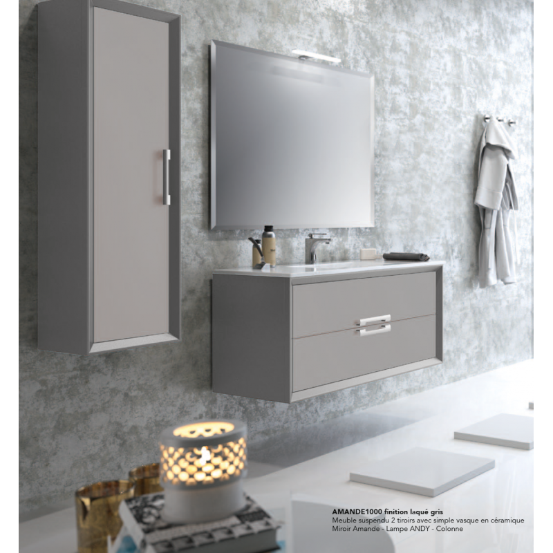 meuble suspendre amande robinet and co meuble suspendu. Black Bedroom Furniture Sets. Home Design Ideas