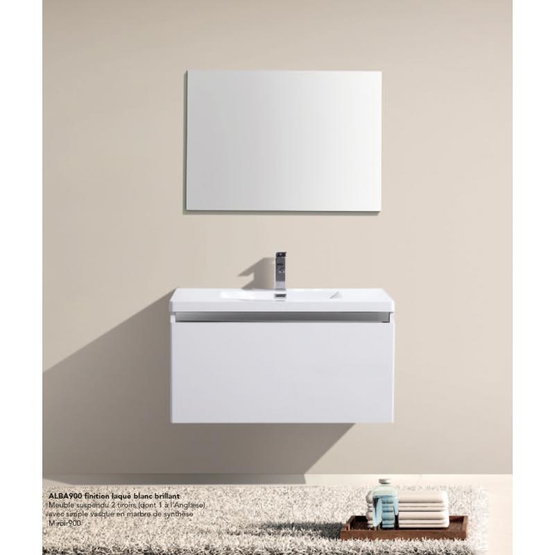 meuble suspendre alba robinet and co meuble suspendu. Black Bedroom Furniture Sets. Home Design Ideas