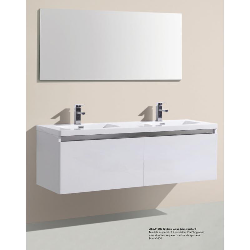 meuble suspendre alba vasque en marbre de synth se. Black Bedroom Furniture Sets. Home Design Ideas