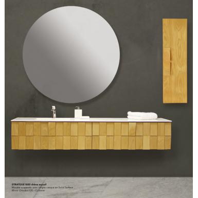 Meuble A Suspendre Stratege Vasque En Solid Surface Robinet Co