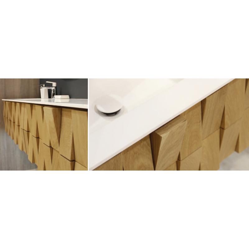 meuble suspendre stratege vasque en solid surface. Black Bedroom Furniture Sets. Home Design Ideas