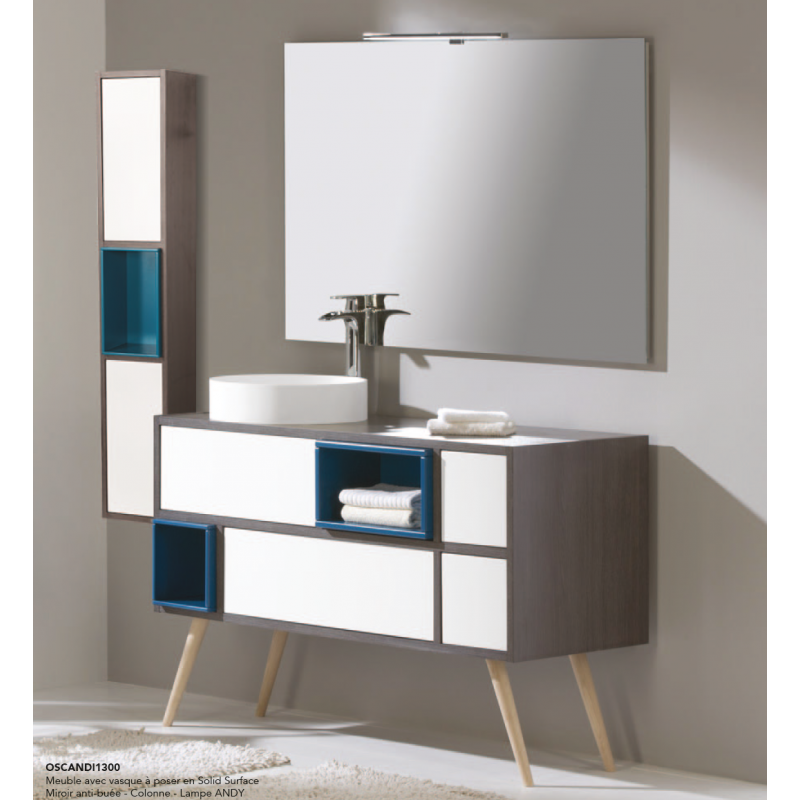 Meuble sous vasque sur pieds o 39 scandi robinet and co for Meuble vasque sur pied