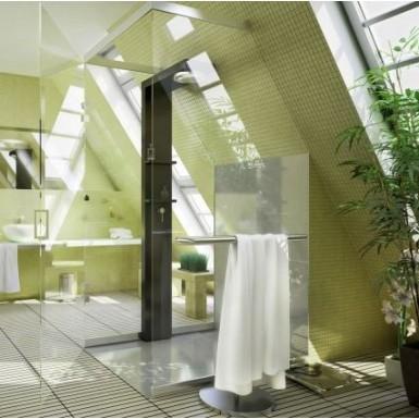 paroi de douche glasseo sur mesure robinet and co paroi. Black Bedroom Furniture Sets. Home Design Ideas