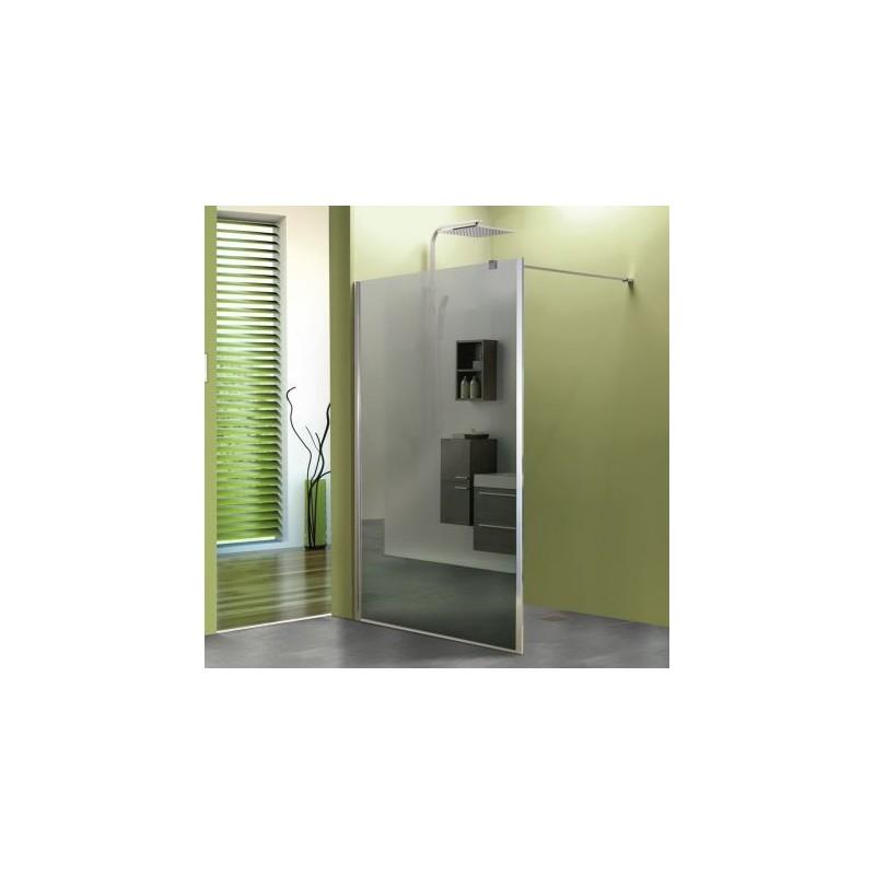 Paroi de douche fixe espelo avec verre miroir robinet and co paroi de douche - Paroi de douche en verre fixe ...