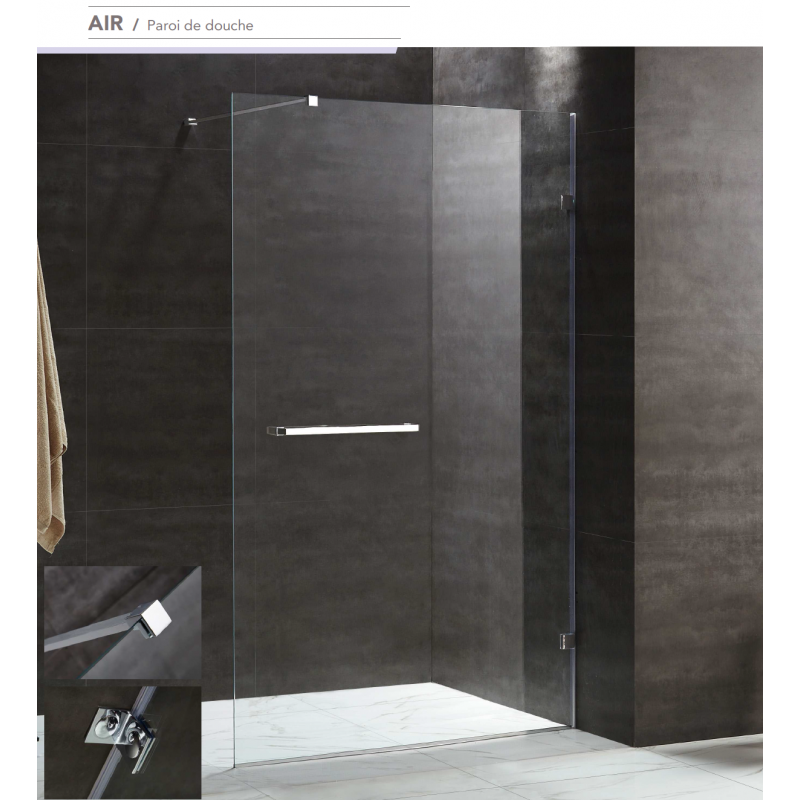 paroi de douche fixe air robinet and co paroi de douche. Black Bedroom Furniture Sets. Home Design Ideas