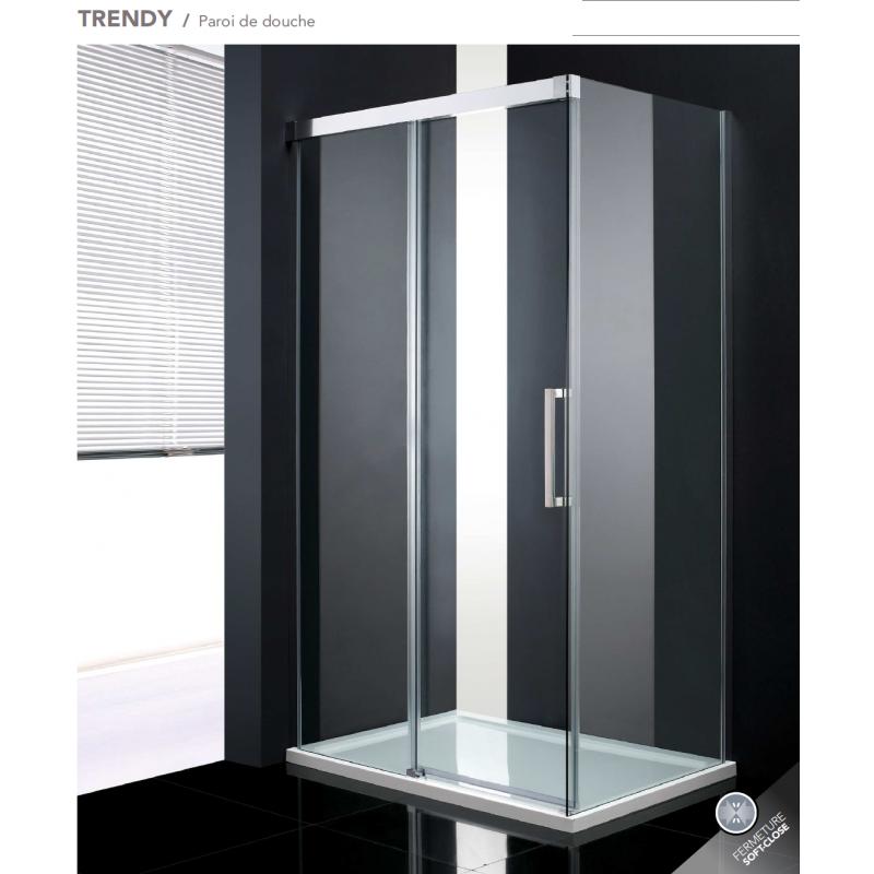 Paroi acc s d 39 angle coulissante trendy fermeture - Porte coulissante verre transparent ...