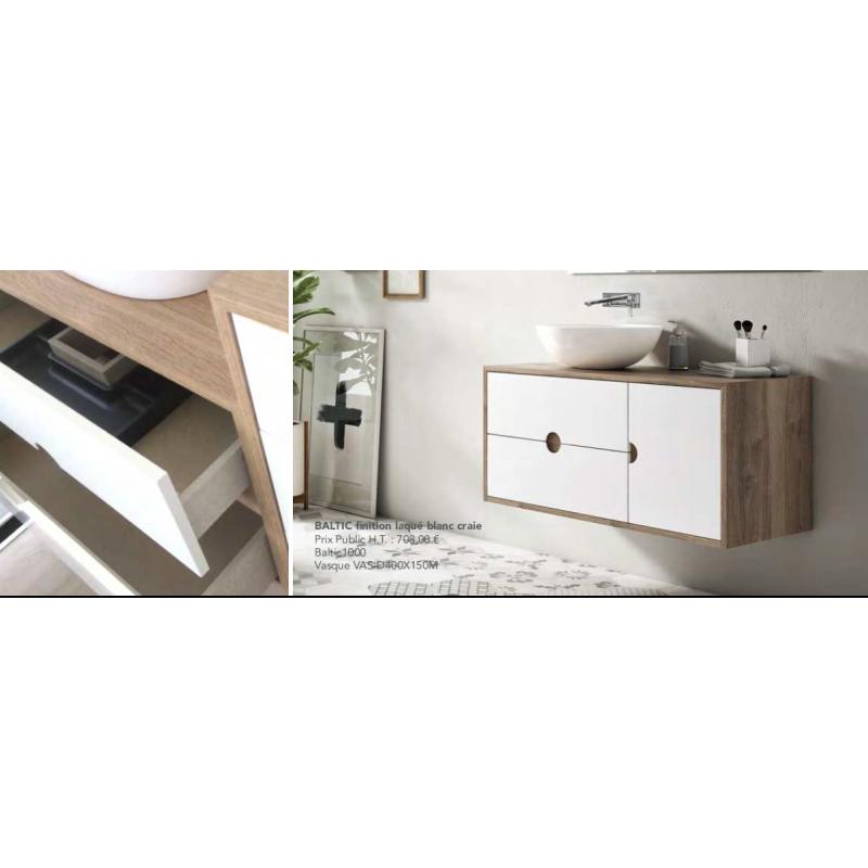 meuble de salle de bain baltic sur pieds with pied meuble salle de bain suspendu. Black Bedroom Furniture Sets. Home Design Ideas