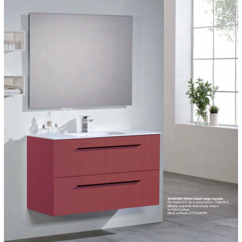 meuble sous vasque suspendre alina robinet co. Black Bedroom Furniture Sets. Home Design Ideas