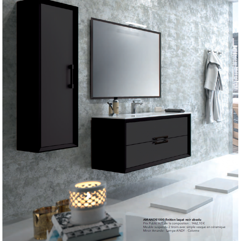 meuble suspendre amande robinet and co meuble suspendu. Black Bedroom Furniture Sets. Home Design Ideas