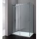 Paroi de douche d'angle EPONA avec porte coulissante + fixe latérale