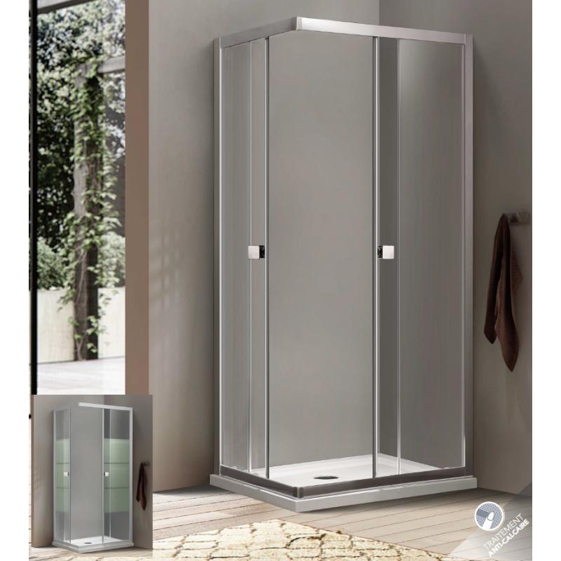 paroi de douche acc s d 39 angle bellagio portes coulissantes robinet and co paroi de douche. Black Bedroom Furniture Sets. Home Design Ideas